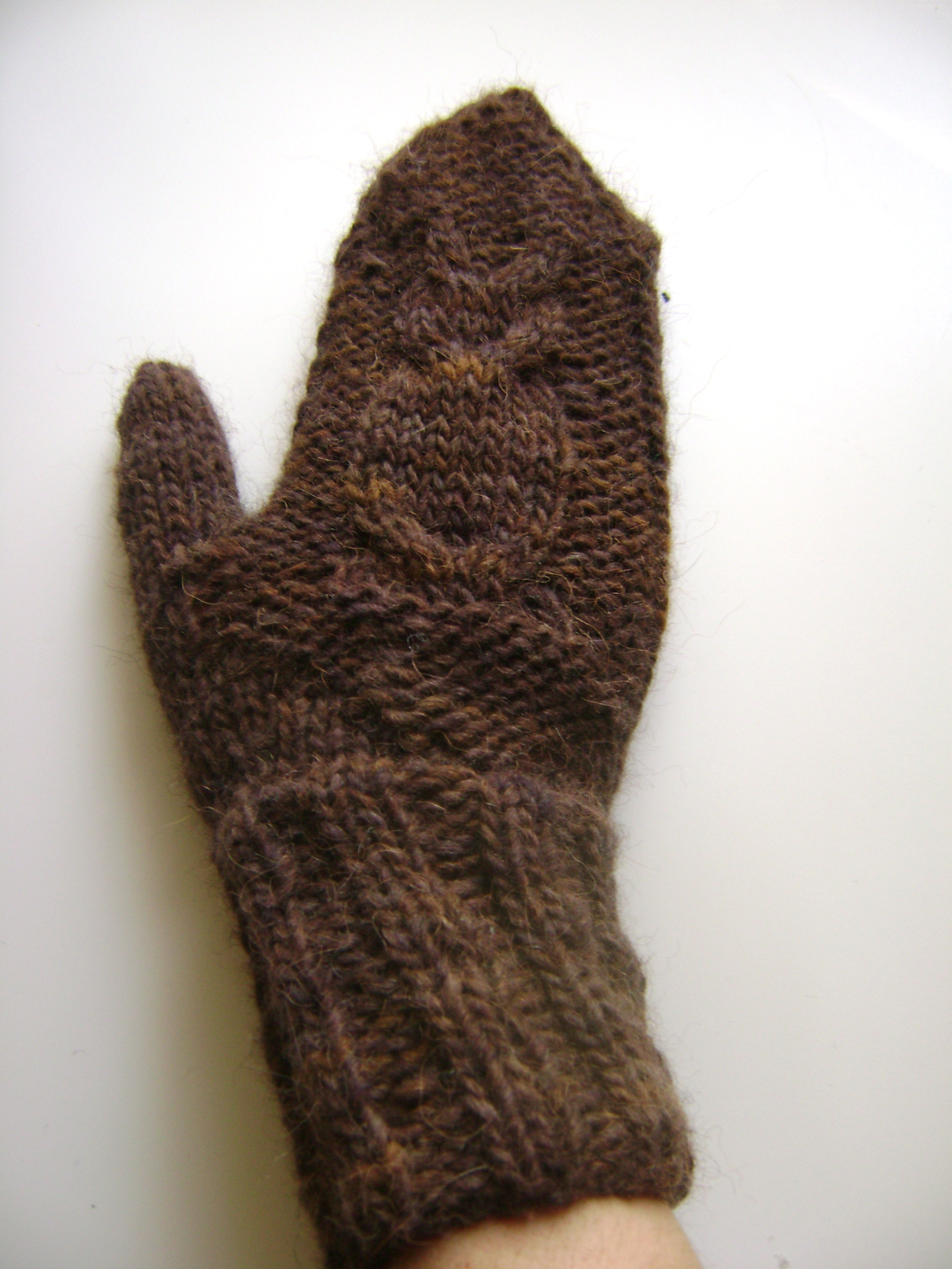 Left Handed Knitting Patterns : owl mittens knitbyahenshop