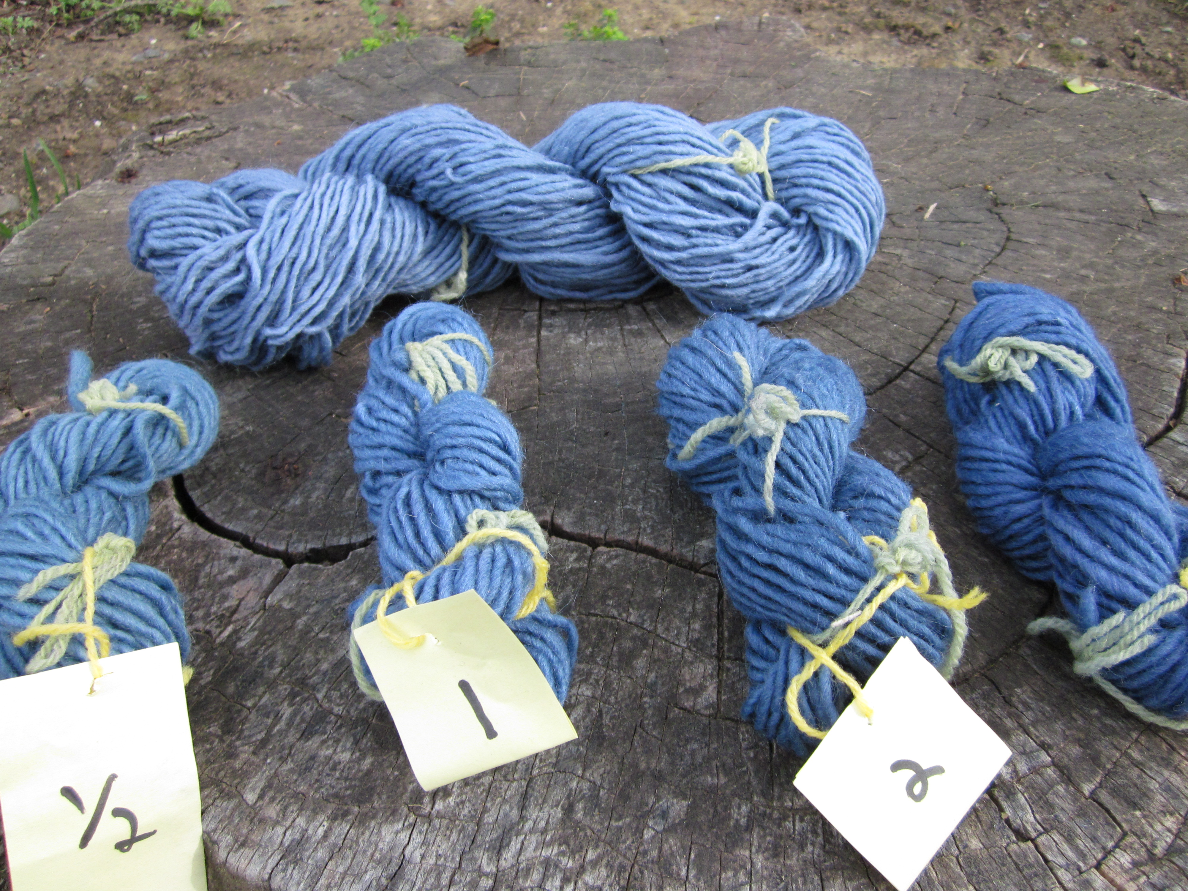 Natural dye tutorial: blue yarn from black beans!