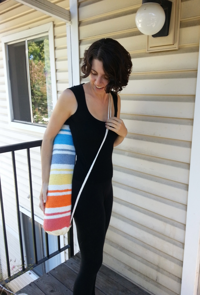 Sunrise A Yoga Mat Bag Knitting Pattern Knitbyahenshop