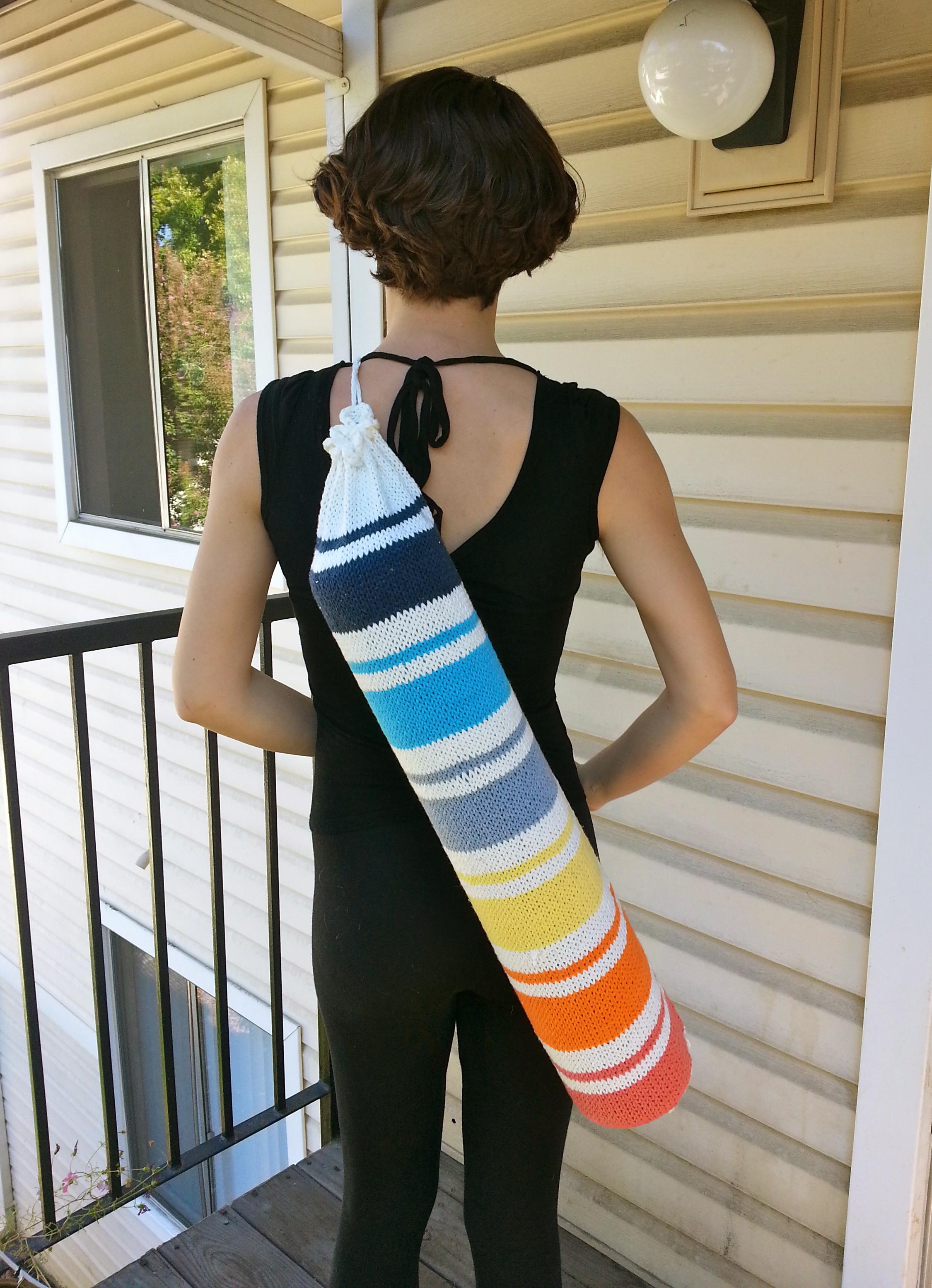Sunrise: a yoga mat bag knitting pattern – knitbyahenshop