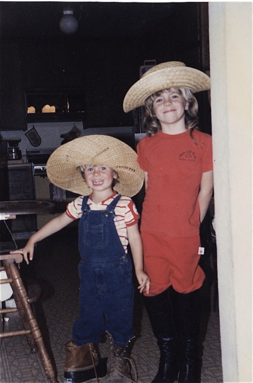 Me and my little bro as pint-sized cowboys
