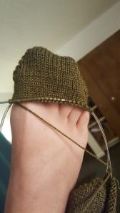 green toe up socks