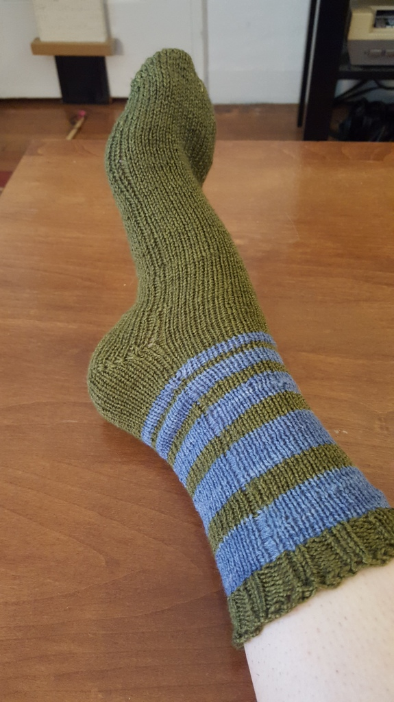 sock on one foot