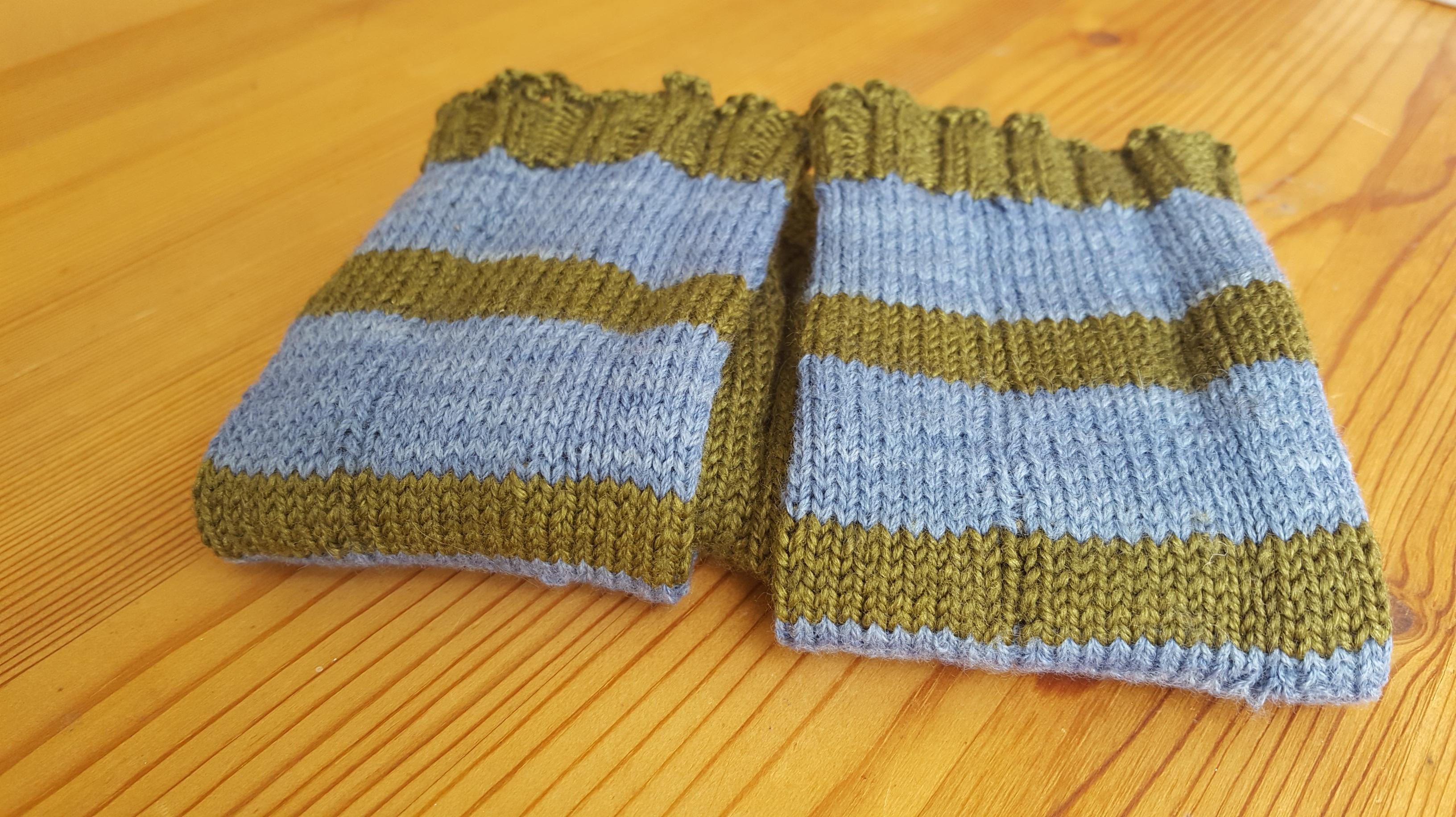 blue stripes close up
